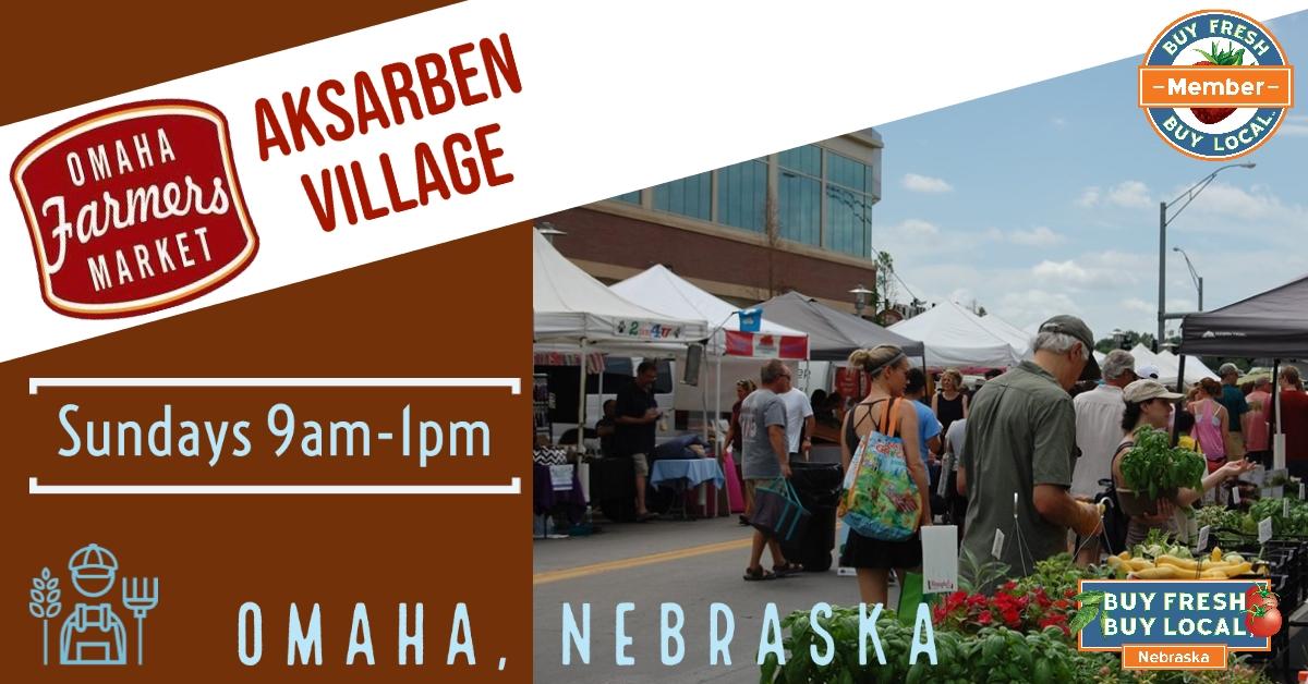 Aksarben Farmers' Market in Omaha Nebraska