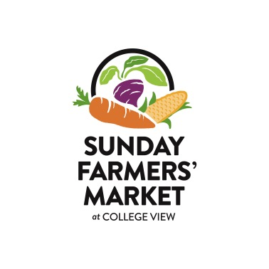 Sunday Farmers' Market at College View Logo