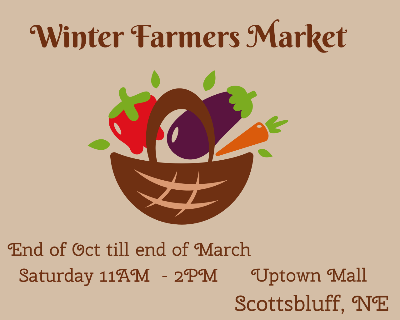 Scottsbluff Winter Farmers' Market  Logo