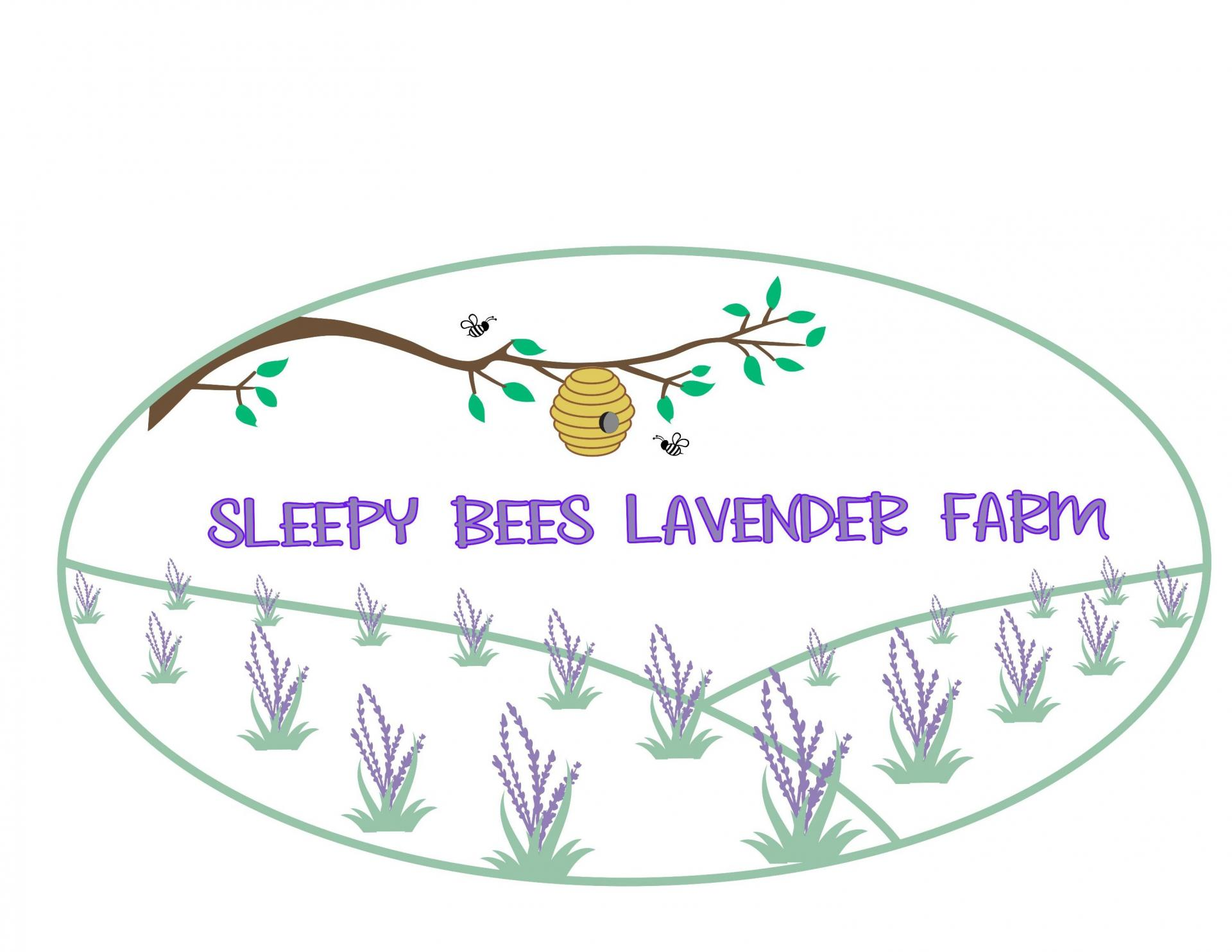 Sleepy Bees Lavender Farm Logo